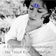 Your Third Eye, thought of as the pineal gland, needs exercise like any other body part in order to reach its full potential. Using visualization and vibrational sound therapy, try these exercises at home regularly to start strengthening and opening your Third Eye!