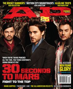 30 SECONDS TO MARS What would you call a band whose motives are constantly scrutinized, yet remain earnest enough to enlist the world to supply gang vocals for their latest album? When Jared Leto tell