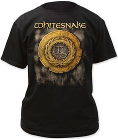 Our Whitesnake tshirt prominently displays the album cover artwork from the hard rock band's self-titled release, Whitesnake. Released in 1987, Whitesnake is the band's most commercially successful album, reaching 8 times platinum status, due much in part to the chart topping singles, Here I Go Again and Is This Love. Spotlighting the Whitesnake logo that appeared on the front album cover from this release, our Whitesnake men's tee is made from 100% black fitted cotton. #RockerRags…