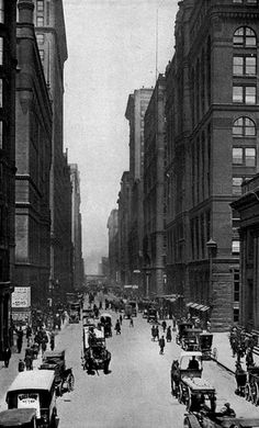 Looking north on LaSalle from Jackson, 1918, Chicago.