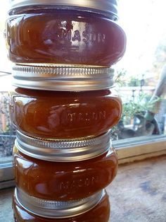 Salted Carmel Pear Butter..... I may try apple. May be neighbor/teacher gifts this year!