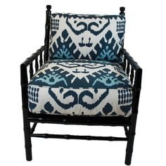 Rooms & Gardens offers unique custom furniture, home decor and interior design services. Bamboo Furniture, Custom Furniture, Blue Accent Chairs, Faux Bamboo, Interior Design Services, Service Design, Home Furnishings, Master Bedroom, Armchair