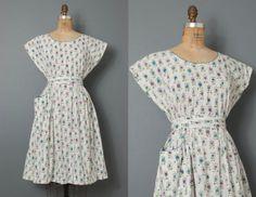 o n h o l d...............1950s swirl dress / 50s by SwaneeGRACE