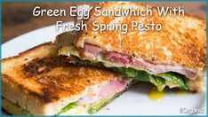Greens, Eggs, And Ham, Grilled Cheese Sandwiches. Grill Cheese Sandwich Recipes, Egg Sandwiches, Sandwich Bar, Cheese Recipes, Pesto, Spelt Bread, Rye Bread, Tofu, Fodmap Diet