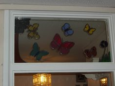A stained glass panel hubby had made for my birthday.