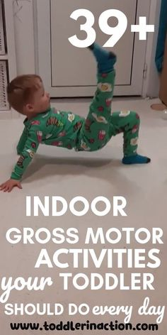 Looking for easy, no-prep, no mess, fun indoor physical toddler activities at home for boys & girls who dont sleep well? Physical Activities For Toddlers, Motor Skills Activities, Toddler Learning Activities, Indoor Activities For Kids, Gross Motor Skills, Infant Activities, Preschool Activities, Kids Learning, Health Activities