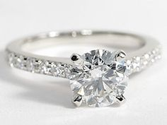 This is my bling!! and I love her!!Pavé Diamond Engagement Ring in Platinum (1/2 ct. tw.)