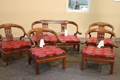 Chinese Redwood Horseshoe Chairs