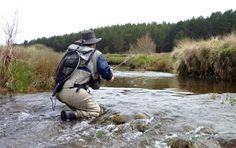 Los #ríos pequeños y las aguas cristalinas nos obligan a escondernos lanzando a ras de agua.