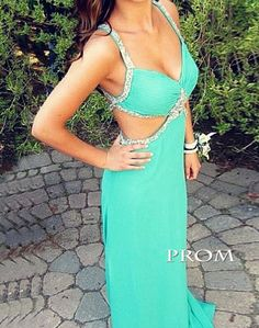 Sweetheart Straps Beading Sexy Long Prom Dress Backless