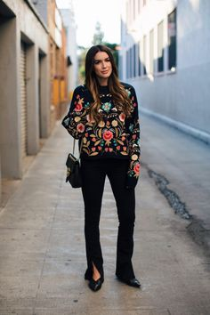 Brittany Xavier Embroidered Sweater