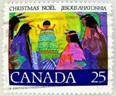 Christmas stamp Canada noel 25c