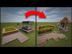 Minecraft: How To Remodel A Village - Well, Farms, Lamp Post, & Roads - YouTube