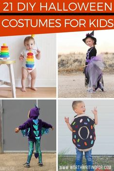 21 DIY Halloween costumes for kids! Looking for the perfect homemade Halloween costume for kids? Or need a last minute costume idea? Check out these awesome and EASY DIY kids Halloween costumes! Mom Costumes, Diy Halloween Costumes For Kids, Costume Ideas, Zombie Costumes, Halloween Couples, Group Halloween, Homemade Costumes, Family Costumes, Women Halloween