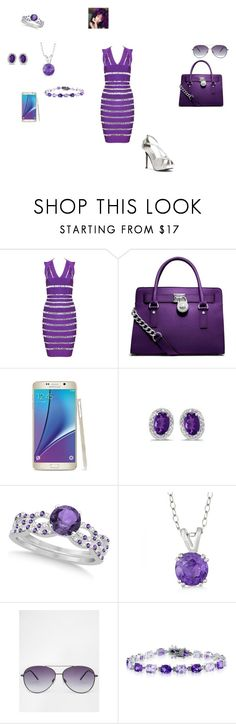 """""""SPRING LOVE N PURPLE"""" by amarra-jade on Polyvore featuring Posh Girl, MICHAEL Michael Kors, Allurez, ASOS, Belk & Co. and Touch Ups"""