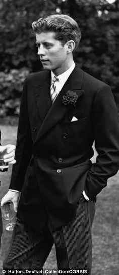 John F Kennedy in 1939 he knew how to dress!