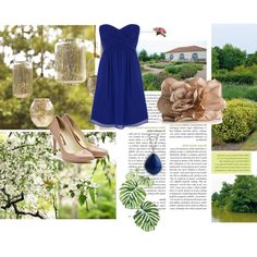 Blue, created by alanna-bowes on Polyvore