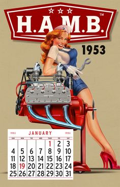 The Jalopy Journal Estilo Pin Up Retro, Retro Pin Up, Retro Art, Pin Up Girl Vintage, Vintage Pins, Vintage Stuff, Mode Pin Up, Pin Up Illustration, Girl Illustrations