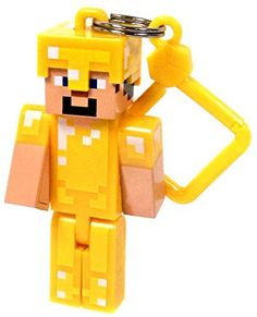 "Minecraft Hangers Series 2 Gold Armor Steve 3"" Keychain Minecraft http://www.amazon.com/dp/B00QO435BC/ref=cm_sw_r_pi_dp_hfC.ub0W2070C"