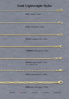 necklace chain types - Google Search