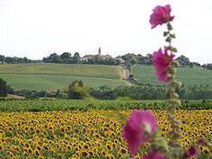 Le village de Lagraulet-du-gers vu de Hourès