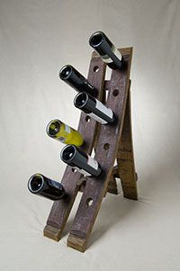 Furniture from wine barrels. Good stuff.