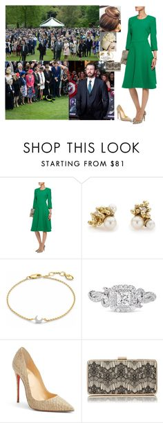 """""""Attending a garden party hosted by  King Edward VII  in the gardens of Buckingham Palace"""" by pacqueline-ngoya on Polyvore featuring mode, Preen, Rachel Trevor-Morgan, Ruth Tomlinson, Missoma, Vera Wang, Christian Louboutin et L.K.Bennett"""