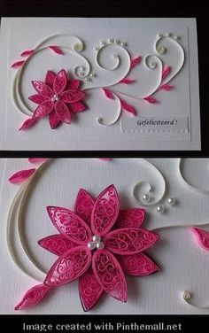 Best 12 Best 12 Best wishes on n - Quilling Deco Home Trends Neli Quilling, Paper Quilling Flowers, Paper Quilling Patterns, Origami And Quilling, Quilling Paper Craft, Paper Crafts, Quilled Roses, Hobbies And Crafts, Diy And Crafts