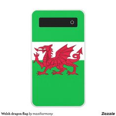 Welsh dragon flag power bank