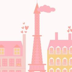 Pink Paris City Living Wallpaper Mural | Hovia