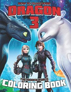 How To Train Your Dragon 3 Coloring Book: The Hidden World Medical Robots, Children Books, How Train Your Dragon, Discount Price, Your Child, Separate, Pens, Markers, Coloring Books