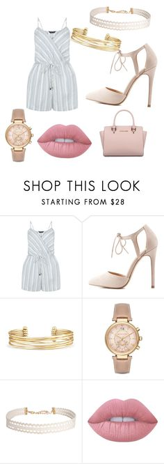 """""""Untitled #12"""" by deslan ❤ liked on Polyvore featuring New Look, Charlotte Russe, Stella & Dot, Michael Kors, Humble Chic and Lime Crime"""