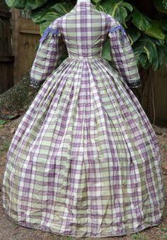 ORIGINAL CIVIL WAR ERA DAY DRESS c.1860