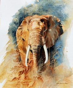 Wild Africa in painting by artist Karen Laurence-Rowe