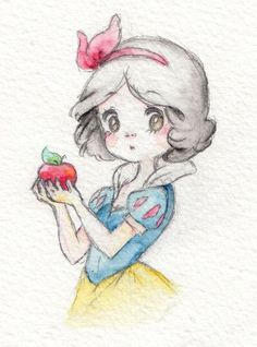 Meine Disney Zeichnung - Blancanieves y los 7 enanitos, Bontus idee di Tatuaggio Kawaii 💫 Disney Princess Drawings, Disney Sketches, Princess Art, Disney Drawings, Cartoon Drawings, Cartoon Art, Drawing Disney, Art Drawings Sketches, Cute Drawings