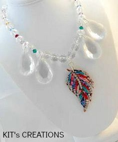 Feathered Rainbow Beaded Necklace featuring by kitscreations