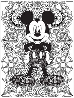 Detailed Mickey Mouse Coloring Book For Adults Free Online Printable Pages Sheets Kids Get The Latest