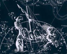 Constellation, Galaxy, Constellation print, Constellation of Argo Navis, 11
