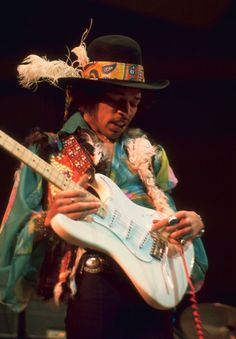 Jimi Hendrix performing at the Royal Albert Hall, London, February 18, 1969  Photo by Graham Page