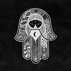 Hamsa - an ancient sign of protection. This one has an aboriginal aesthetic.  Love it!