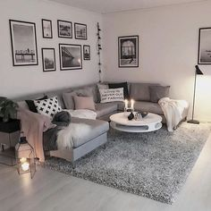 Wohnzimmer Wohnzimmer The post Wohnzimmer & Wohnung appeared first on Living room decor . Cozy Living Rooms, Living Room Grey, Home Living Room, Apartment Living, Living Room Designs, Apartment Entryway, Apartment Furniture, Living Room Ideas With Brown Carpet, Warm Colours Living Room