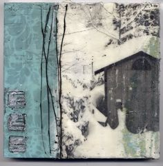 dawn nielson, encaustic and photograph