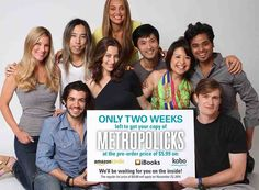 """TWO WEEKS left to pre-order METROPOLICKS at $5.99!   Soon you'll be able to you get your hands on your very own copy!  Metropolicks is available for pre-order on:   Amazon: http://amzn.to/1tYdaOm Kobo: http://store.kobobooks.com/en-US/ebook/metropolicks Apple iBookstore: Search for """"Metropolicks book""""  Photo credit: Maggie Law Graphic design: Emily Chen"""