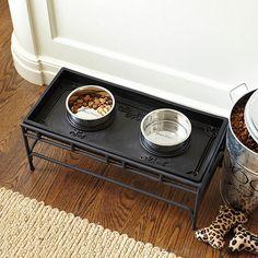 Pet Food Tray & Stand by Ballard Designs