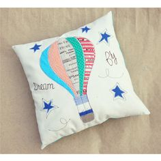 $25.75 Cushion child Hot-hair balloon  personalized by EphemereCollection