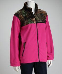 TrailCrest Mens Full Zip Fleece Outdoor Jacket W//Camo Accent