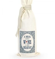 Grab a bottle of wine, put it in this bag and there you have the perfect gift. Great for dinner parties, birthdays, corporate gifts or wedding favors. No card required, the gift says it all. Corporate Gifts, Gift Bags, Cool Gifts, Wedding Favors, Wine, Wedding Keepsakes, Promotional Giveaways, Goody Bags, Treat Bags