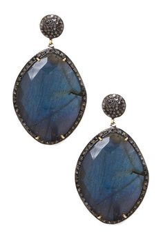 large black spinel earrings - Google Search