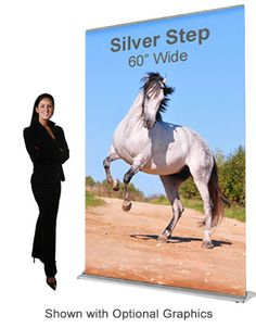 5ft retractable banner stand for selfie backdrop