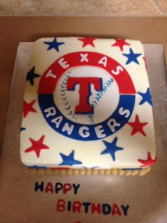 Texas Rangers Cake Traci Pinterest Texas Rangers